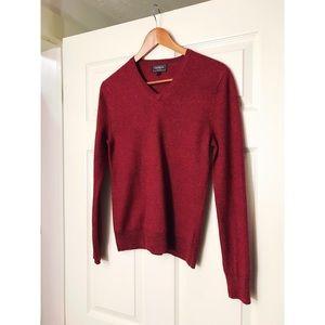Express Red Modern Fit Merino Wool Sweater